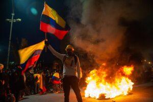 Protestas en Bogotá, Colombia, contra el Gobierno de Duque. - Chepa Beltran/LongVisual via ZUM / DPA