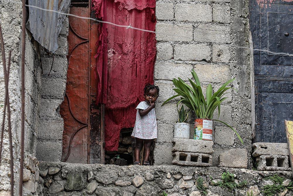 Una niña en Tabarre Issa, Puerto Príncipe - UNICEF/UN0469221/MORENO GONZA