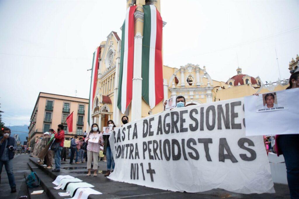 Manifestación por el asesinato de un periodista en Xalapa, Veracruz - HECTOR ADOLFO QUINTANAR PEREZ / ZUMA PRESS / CONTA