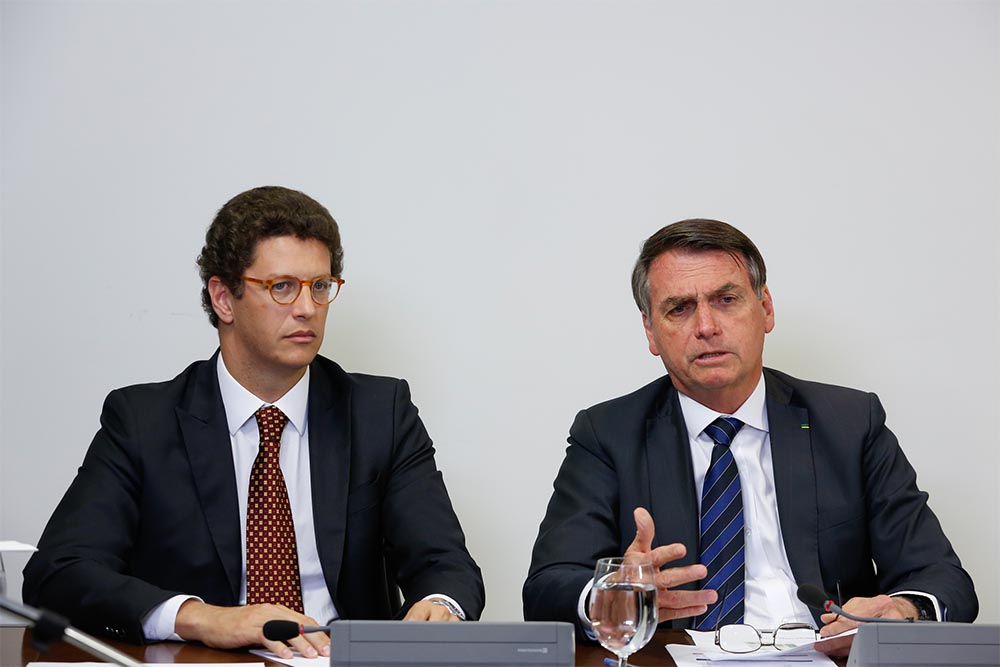 Ricardo Salles y Jair Bolsonaro