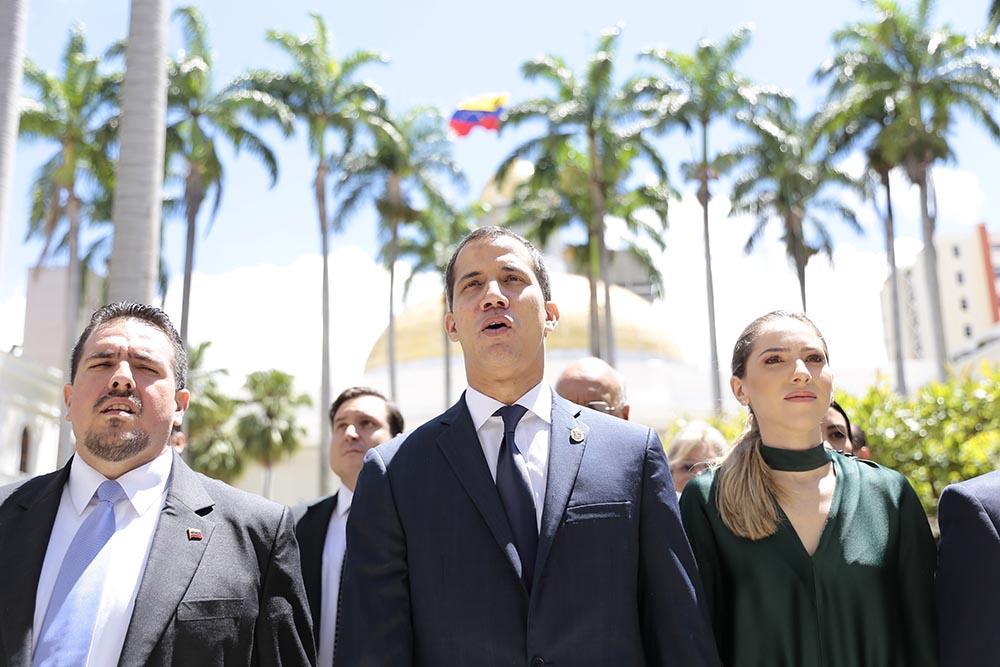 Juan Guaido y Fabiana Rosales - Rafael Hernandez/dpa