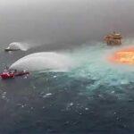 """El incendio del oleoducto submarino en el golfo de México fue un """"accidente"""", dice López Obrador"""