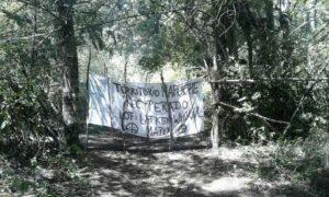 Pancarta reivindicativa mapuche - RED DE APOYO DE COMUNIDADES EN CONFLICTO