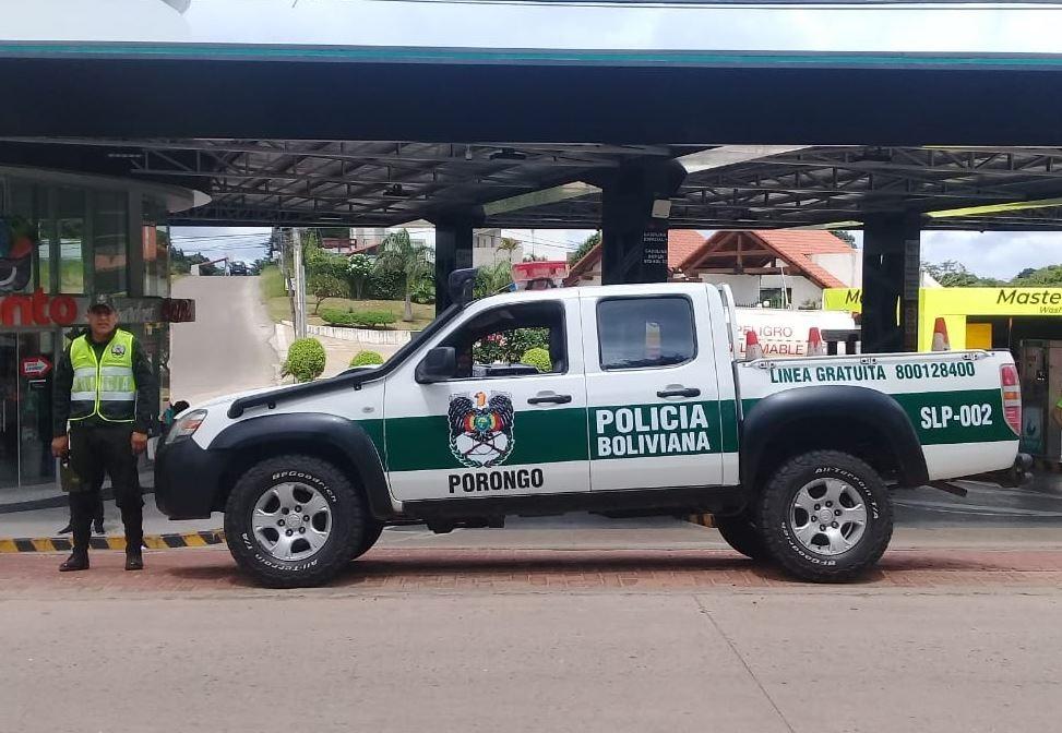 Un vehículo de la Policía de Bolivia - POLICÍA DE BOLIVIA