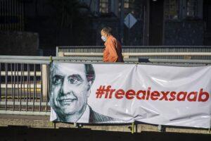 Pancarta a favor de la liberación de Alex Saab en Caracas - JIMMY VILLALTA / ZUMA PRESS / CONTACTOPHOTO
