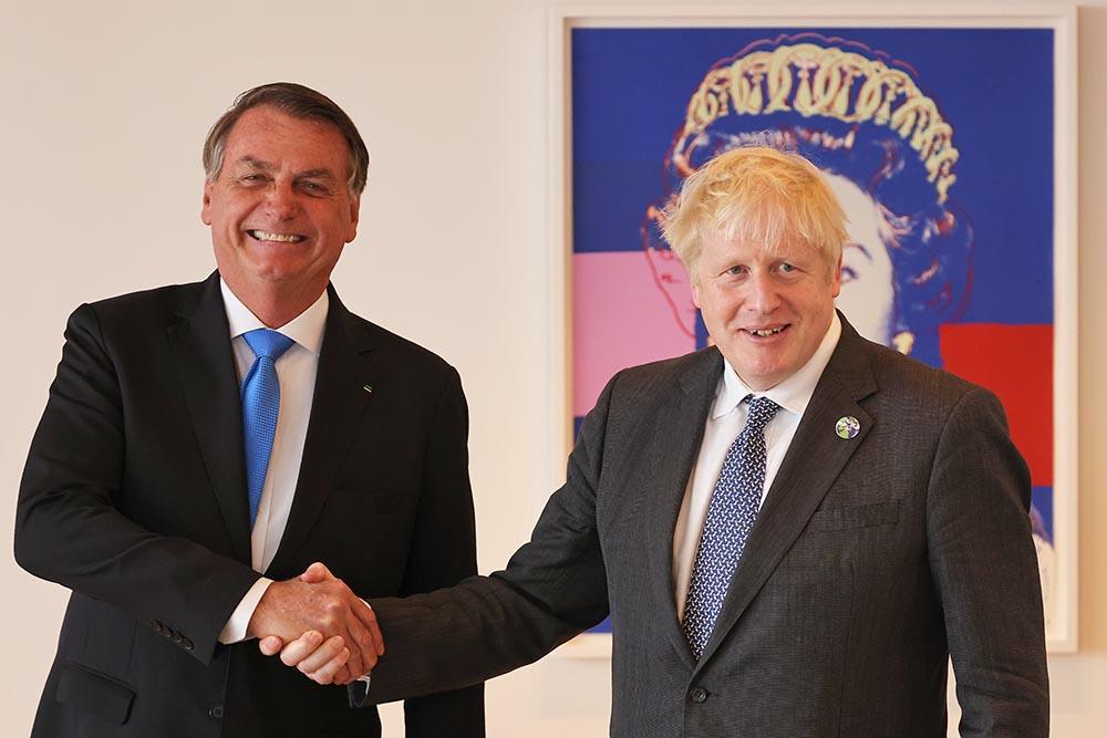 Jair Bolsonaro y Boris Johnson. - Michael M. Santiago/PA Wire/dpa