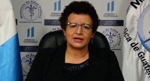La ministra de Sanidad guatemalteca, Amelia Flores