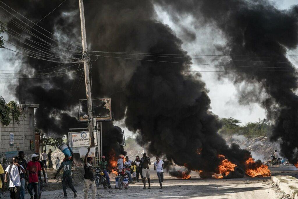 Una manifestación contra el presidente haitiano Jovenel Moise en Puerto Príncipe. - RICHARD TSONG-TAATARII / ZUMA PRESS / CONTACTOFOTO