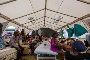 Hospital de campaña de UNICEF en Les Cayes - UNICEF/ROUZIER