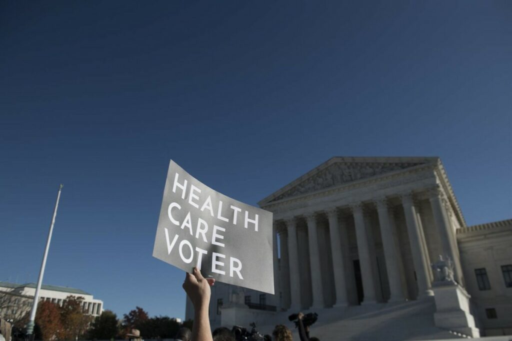 Protesta ante el Tribunal Supremo de Estados Unidos en defensa del 'Obamacare' - ROD LAMKEY / ZUMA PRESS / CONTACTOPHOTO