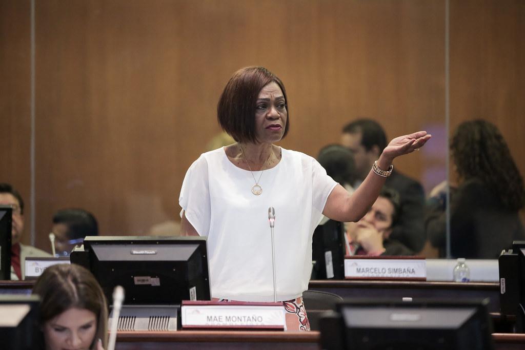 La ministra de Inclusión Económica y Social (MIES) de Ecuador, Mae Montaño