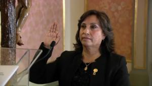 La vicepresidenta de Perú, Dina Boluarte