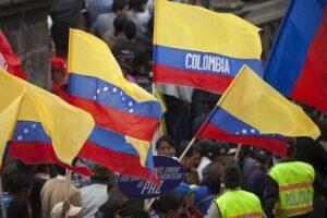 Banderas de Colombia y Venezuela