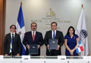 Firma del convenio por el que República Dominicana pasa a ser miembro pleno de CAF - CAF